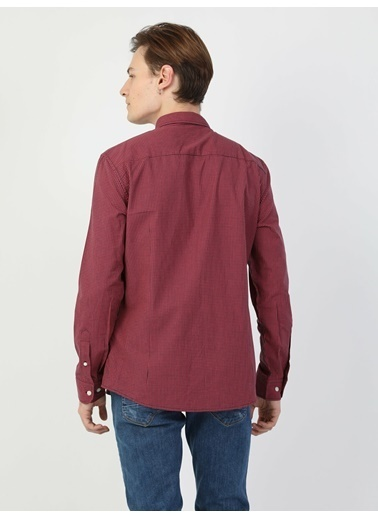 Colin's Slim Fit Erkek Uzun Kol Gömlek Kırmızı